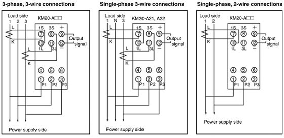Km20 Power Sensor Wiring Method And Current Transformer