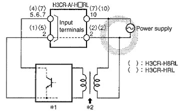 H3CR Timer: Wiring Power Supply and Input Devices | FAQ ... on