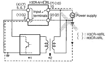 H3CR Timer: Wiring Power Supply and Input Devices | FAQ | Australia on